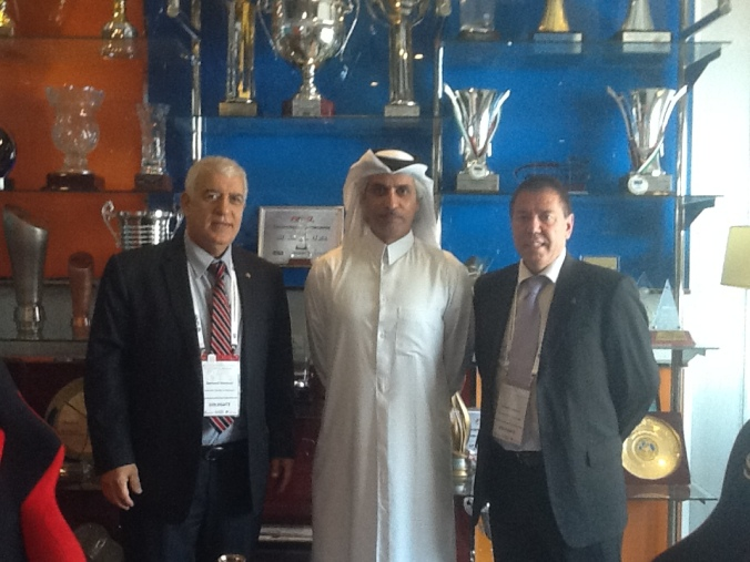 Tim and Edmund with Sheikh Hassan bin Jabor Al-Thani